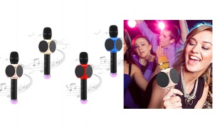 Magic Karaoke Bluetooth Portable Speaker Microphone - Blue