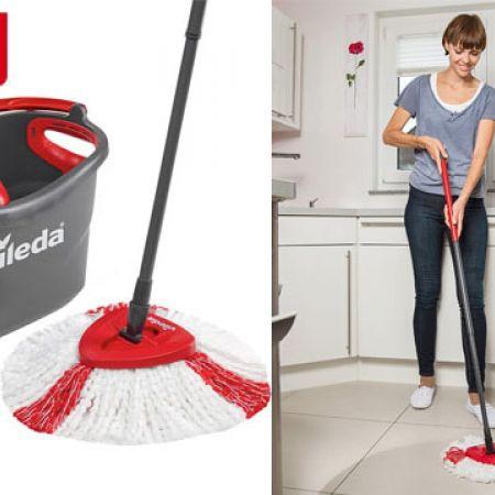 Vileda Easy Wring Clean Turbo Microfibre Mop Bucket Set