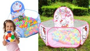 Portable Magic Elastic Ball Pool 120 x 120 x 38 cm - Doraemon