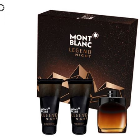 Mont Blanc Legend Night 3 Pcs Gift Set EDP 100 ml After Shave & Shower Gel 100 ml For Men