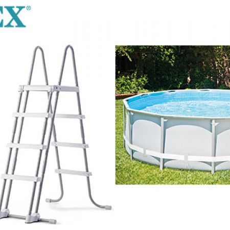 Intex Above Ground Swimming Pool Ladder With Removable Steps 91 To 107 cm