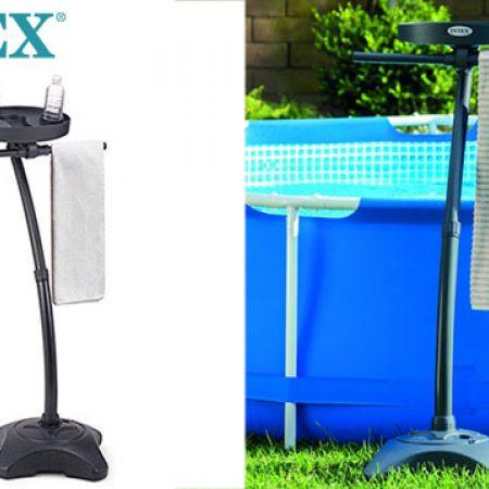 Intex Black Towel Rack 127 x 60 x 60 cm