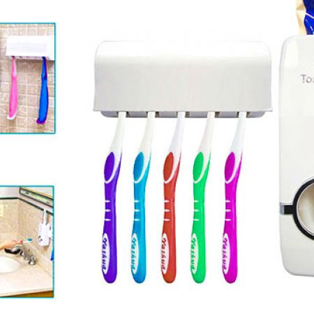 Automatic Toothpaste Dispenser With Detachable Toothbrush Holder