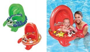 Swim School Inflatable Baby Boat 71 cm - Lobster