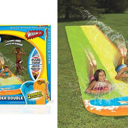 Slip and Slide Double Wave Rider With 2 Bonus Slide Boogies 4.8 m