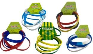 Set Of World Cup Silicone Bracelet 6 Pcs - Brazil
