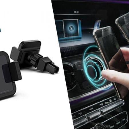 Patchworks CAMO Black Qi Wireless Charging Car Vent Mount
