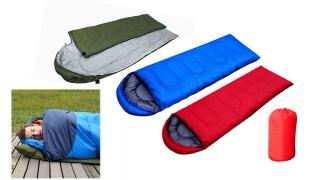 Portable Hooded Camping Sleeping Bag 200 x 70 cm - Blue