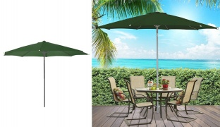 Outdoor & Beach Parasol 240 x 200 cm - Black