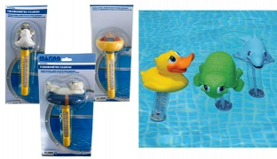Marina Floating Water Pool Thermometer - White Bear
