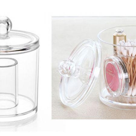 Design Acrylic Round Cosmetics Holder