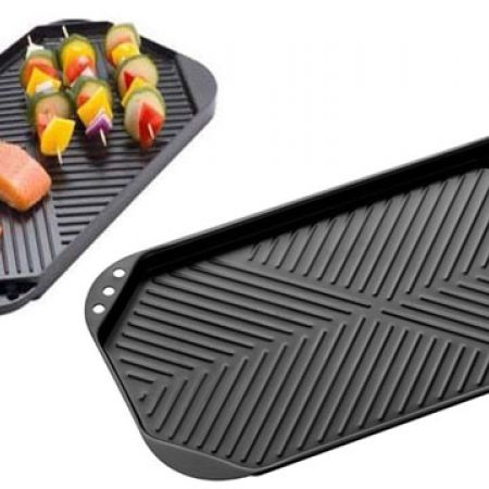 The Cook Shop Twin Hob Grill Plate 50 x 27 x 2 cm