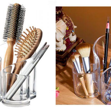Design Acrylic Jewelry & Cosmetic Storage Display 3-Section