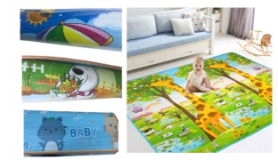 Double Face Baby Crawling & Play Mat 180 x 150 cm - Baby Cat