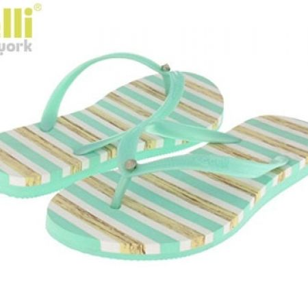 b3a77cb27b16 Capelli New York Textured Mint Opaque Jelly Thong Flip Flops For Women -  Size  36 - Makhsoom