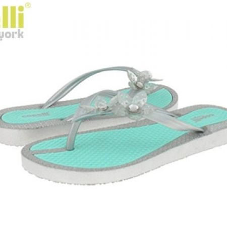 29e6ca1e13b4 Capelli New York Mint Flower Flip Flops Textured Jelly Thong For Women