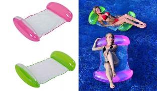 Jilong Inflatable Mattress 2 In 1 Mesh Floater 155 x 86 cm - Pink