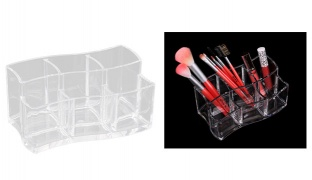 Design Acrylic Jewelry & Cosmetic Storage Display 6-Section