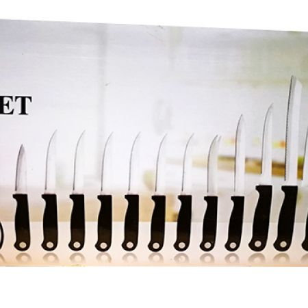 In-House Set Of Stainless Steel Kitchen Knife 13 Pcs