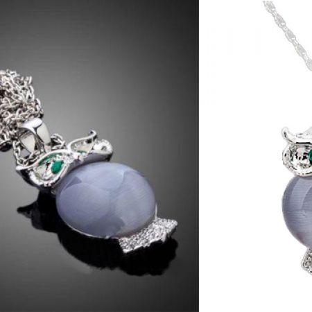 Stellux Austrian Crystal Bird Of Minerva Necklace For Women