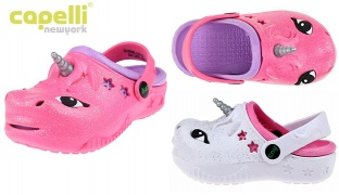Capelli New York Toddler Unicorn Injected EVA Clog With Backstrap For Kids - Pink - 20-22