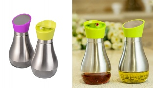 Stainless Steel Oil & Vinegar Bottle - Purple