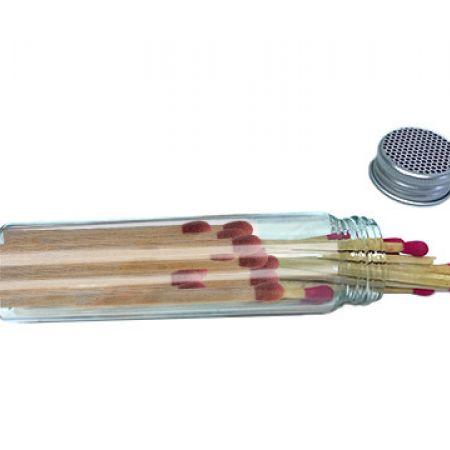 Glass Tube Wooden Cigar Matches 22 Pcs