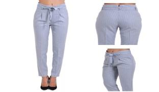 It's Denim Classy Grey High-Waist Pant For Women - Size: 38