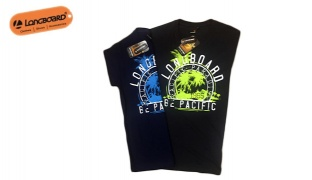 Longboard Pacific Paradise T-Shirt For Men - Navy Blue - Size: Small