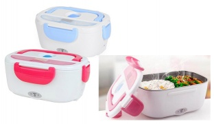 Portable Multi-Functional Electric Lunch Box - Blue