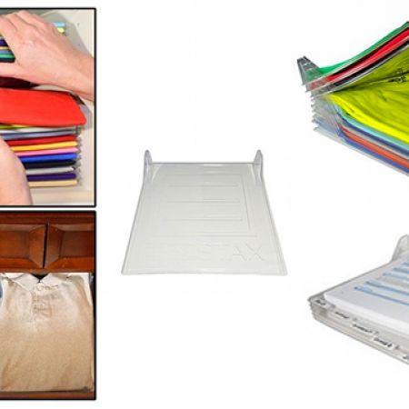 EzStax Closet Organizer & Shirt Folder System 10 Layers