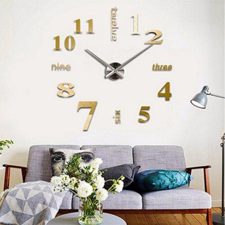 DIY 3D Gold Numbers & Numeric Wall Art Clock