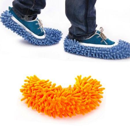 Microfiber Dust Floor Orange Cleaning Slippers