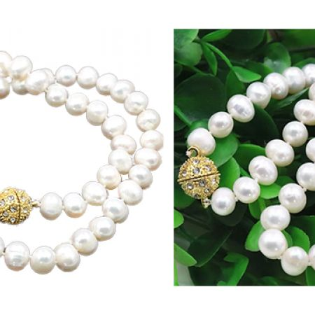 Classy Fresh Water Pearl Long Necklace For Women