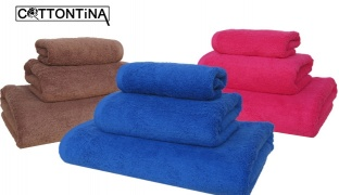 Cottontina 100% Cotton Luxury Bath Towel - Green - 30 x 50 cm