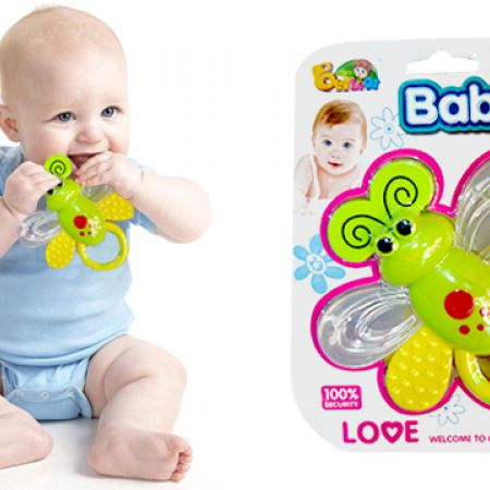 Butterfly Baby First Teeth Rattle