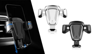 Baseus Gravity Air Vent Car Mount 360 Degree Rotation Holder - Black
