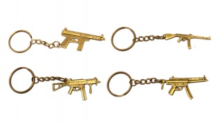Weapon Metal Keychain Set Of 12 Different Models