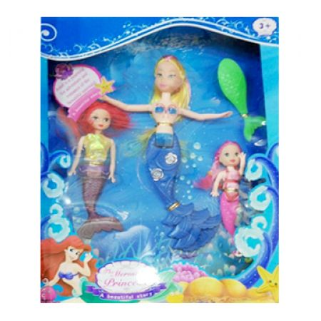 Set Of Mermaid Princess 3 Pcs