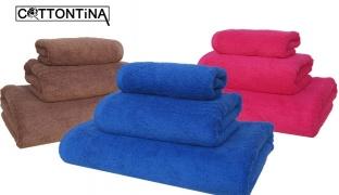 Cottontina 100% Cotton Luxury Bath Towel - Magenta - 30 x 50 cm