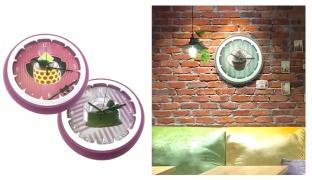 Round Wall Clock - Cupcake