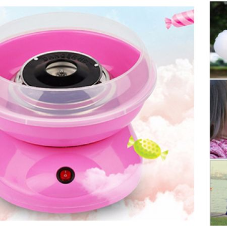 Fresh Delicious Pink Cotton Candy Maker 500 W
