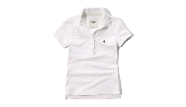 028d402de Abercrombie & Fitch White Iconic Polo Shirt For Women - Medium ...