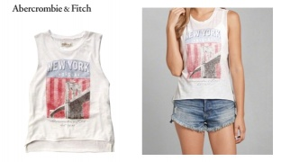 161e19b6f Abercrombie & Fitch New York Usa Graphic Muscle Tank For Women - Size:  Medium