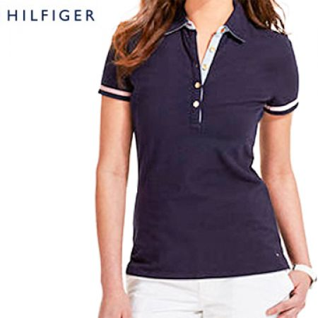f3e74a46 Tommy Hilfiger Navy Blue Polo Shirt For Women Size: Medium - Makhsoom