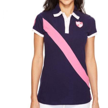 ade9f5e5 Us Polo Assn Navy Blue & Pink Polo Shirt For Women Size: Medium - Makhsoom