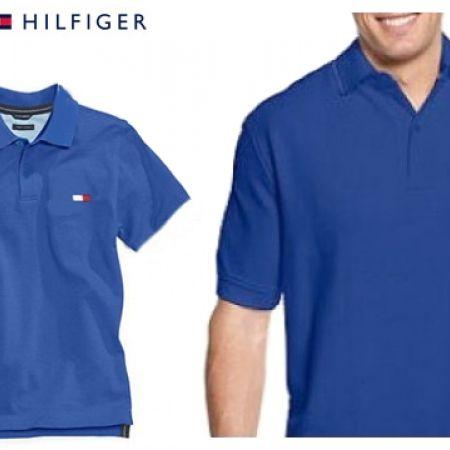 03e67a09 Tommy Hilfiger Blue Big Polo Shirt For Men Size: Small - Makhsoom