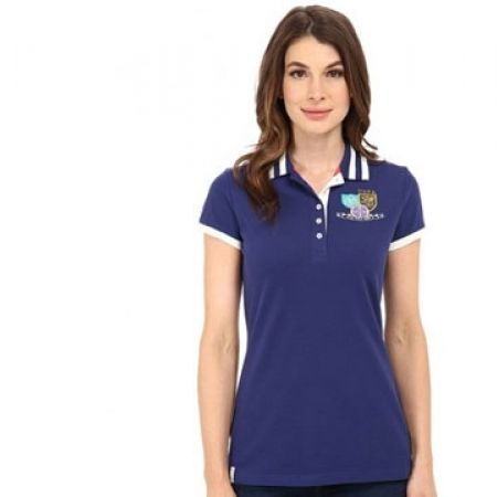 585b46ea8 Us Polo Assn Navy Blue Patch & Embroidered Embellished Polo Shirt For Women  - Size: Small - Makhsoom