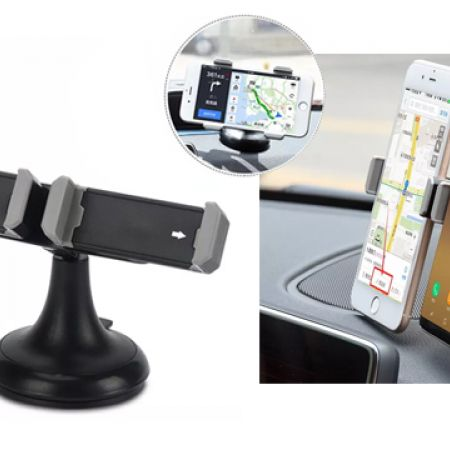 Twin Universal Black Car Mobile Holder
