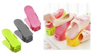 Practical Slim Up Space Saving Display Rack Shoes - Pink